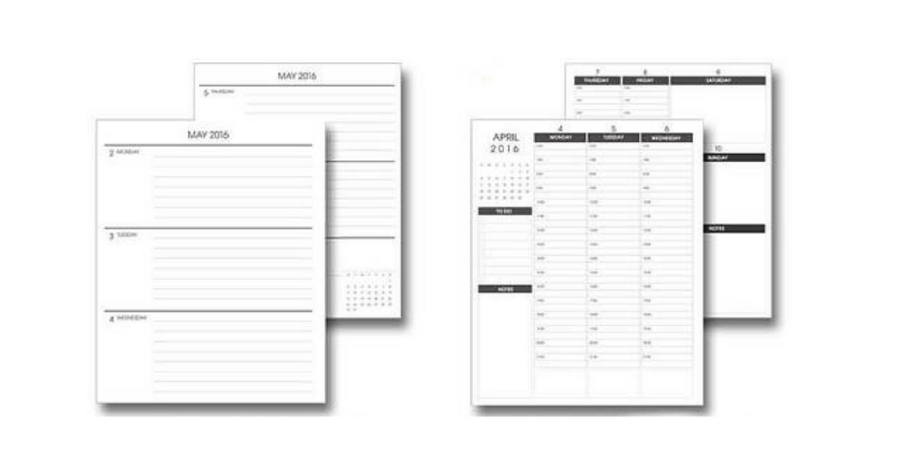 Made to plan planner, 2 page weekly planner, alternative erin condren planner vertical minimalist monday start