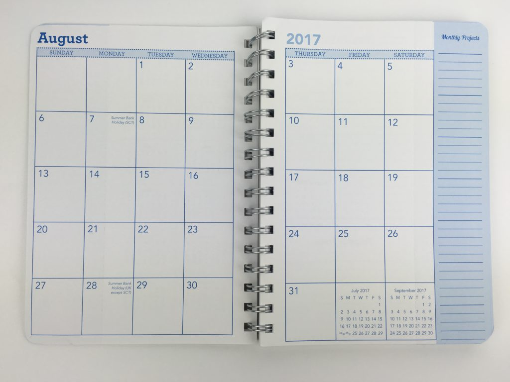amy knapp planner christian family organizer dates at a glance monthly calendar simple minimalist mom planner mum america usa cheap affordable notebook monthly calendar 2 page sunday start