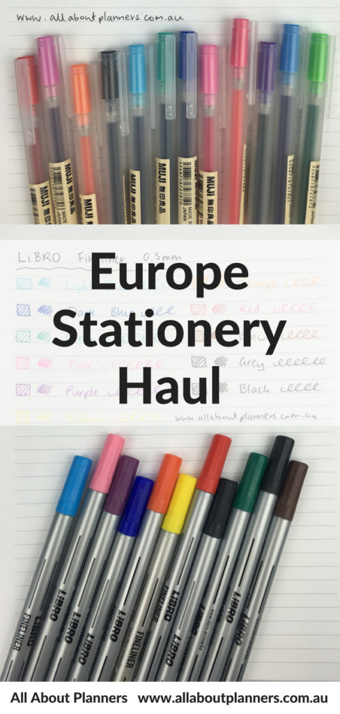 europe stationery haul pen testing color coding planner supplies organization bullet journal cheap affordable favorite stores