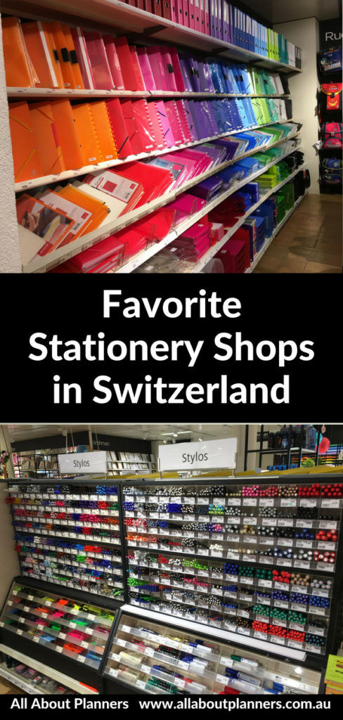 favorite stationery shops in switzerland planner supplies brush pen notebook cute affordable rainbow globus bern zurich lucerne