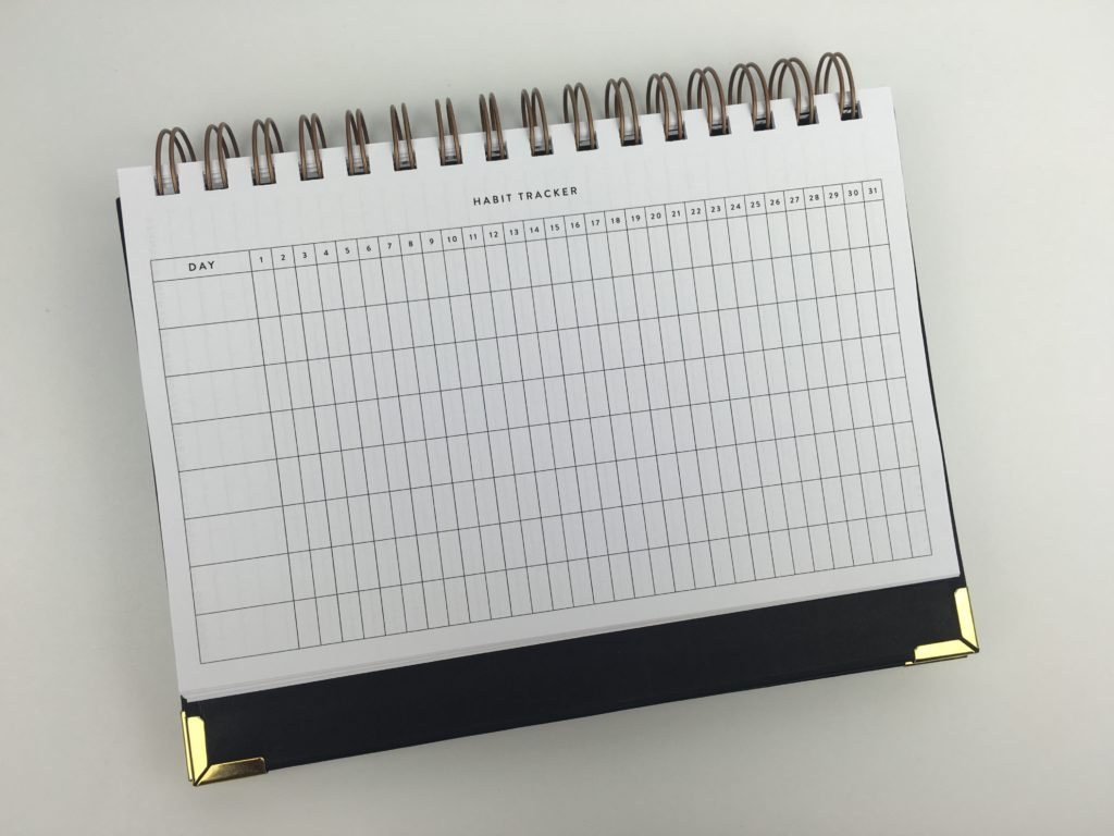 habit tracker planner by sugar and type minimalist half page size us productivity business blogging honest review