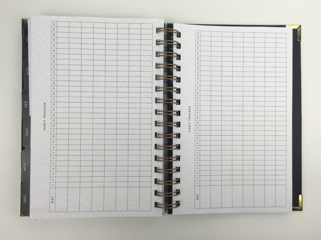 habit tracker planner by sugar and type minimalist half page size us productivity business blogging honest review entrepreneur