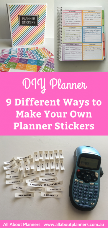 how to make your own planner stickers tips tutorial simple quick easy without using a silhouette machine or cricut affordable planner hack
