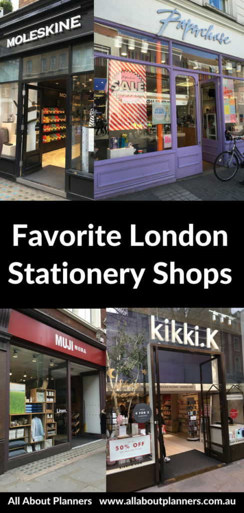 london stationery shops roundup recommendations cheap affordable pen planner agenda notebook cute planning supplies paperchase