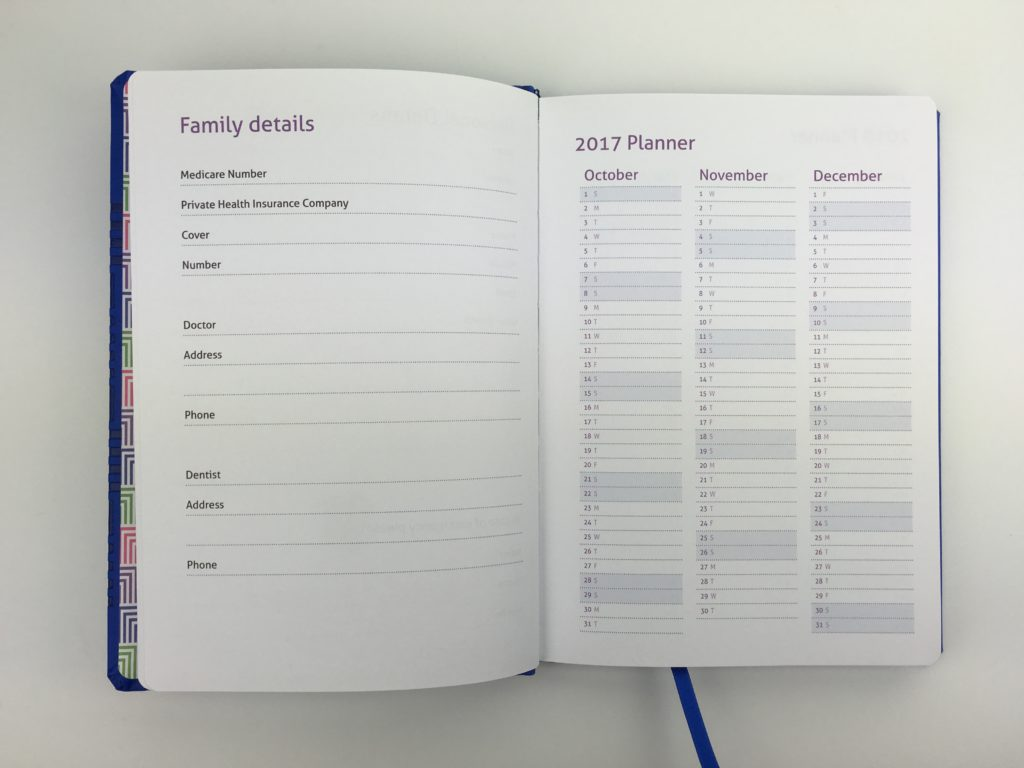 master plan family diary milligram 2018 agenda organizer categorised monday week start australia bookbound diary review milestone press future log planning