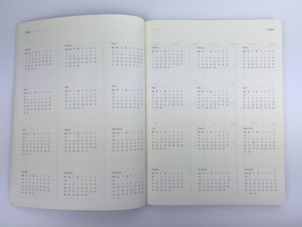 moleskin annual dates at a glance calendar minimalist simple gender neutral lightweight week start monday horizontal 2 page weekly spread
