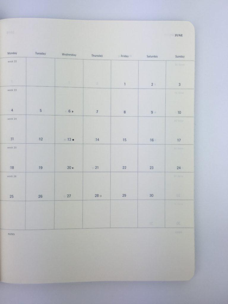 moleskin annual dates at a glance calendar minimalist simple gender neutral lightweight week start monday horizontal 2 page weekly spread professional men planner