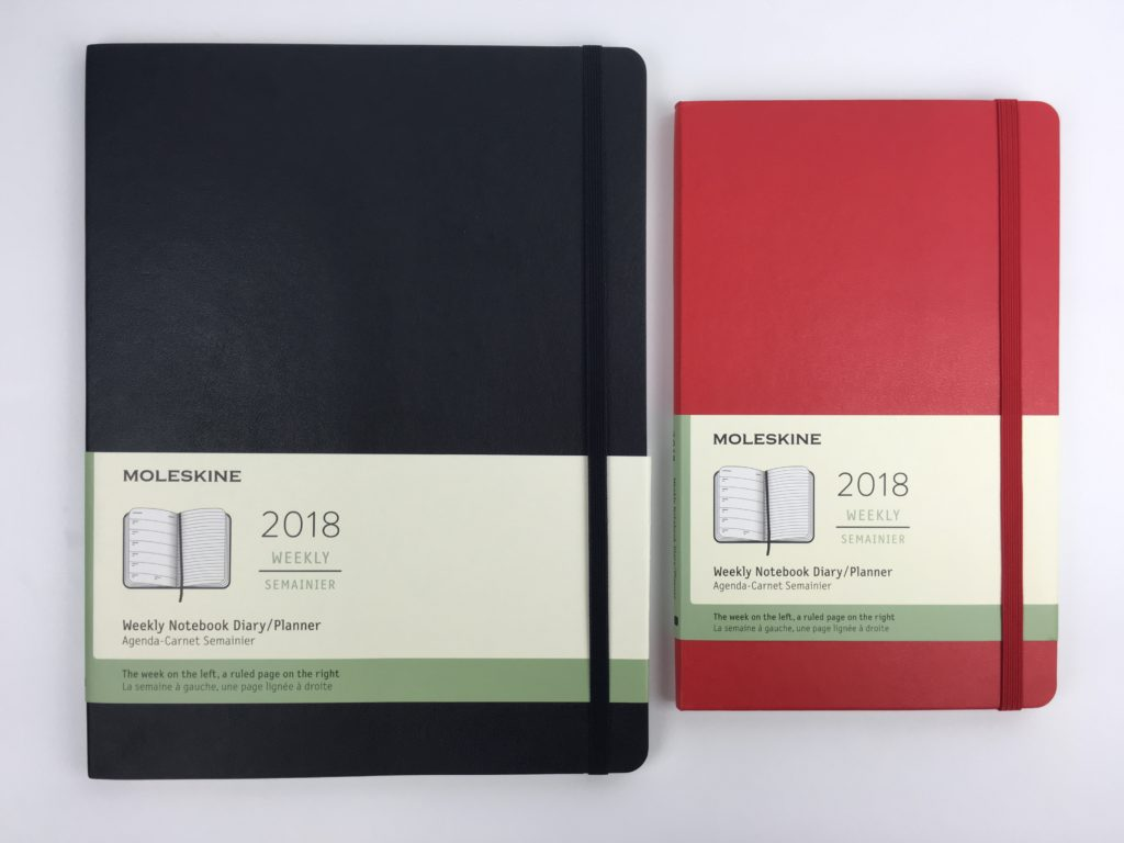 moleskin weekly planner review academic year horizontal simple minimalist book bound bullet journal week start monday a5 medium size notebook