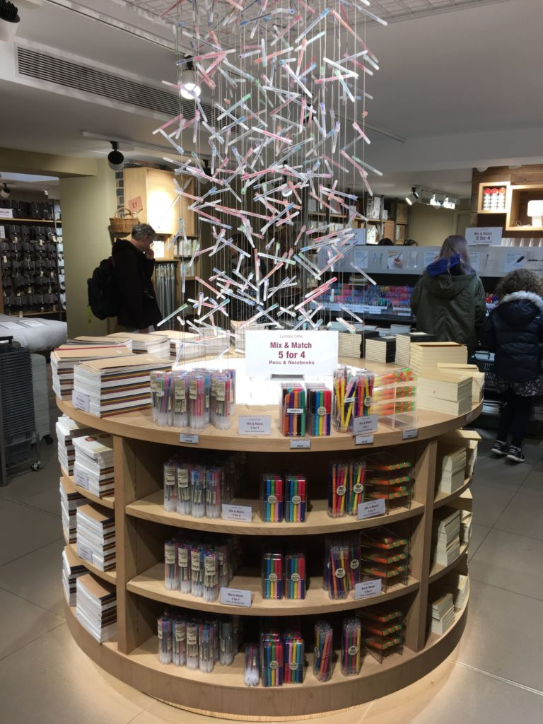 muji stationery favorite places to buy planner supplies in london review roundup tips shopping fine tip needle tip rainbow color coding-min