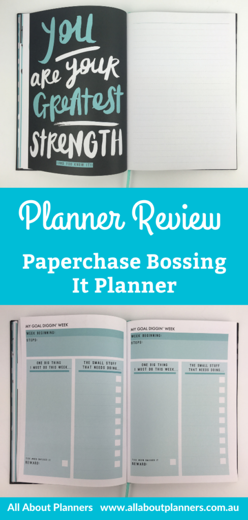paperchase bossing it planner review pros and cons video flipthrough pen testing all about planners