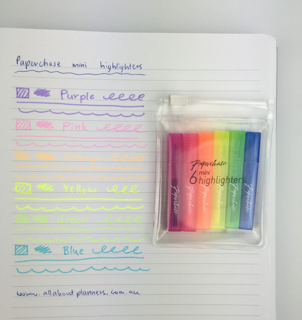 paperchase highlighters review color coding bright neon planner supplies review london favorite british stationery shops united kingdom europe haul