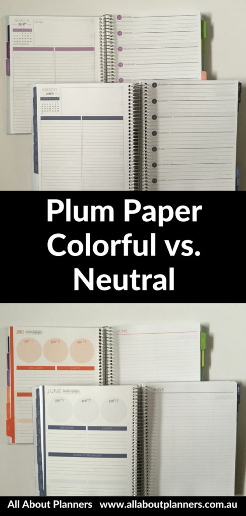 plum paper colorful versus neutral comparison simple minimalist affordable cheaper alternative to erin condren video review