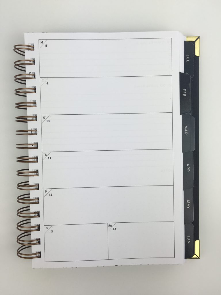 rule the world 1 page weekly planner sugar and type monday week start affordable minimalist black and gold