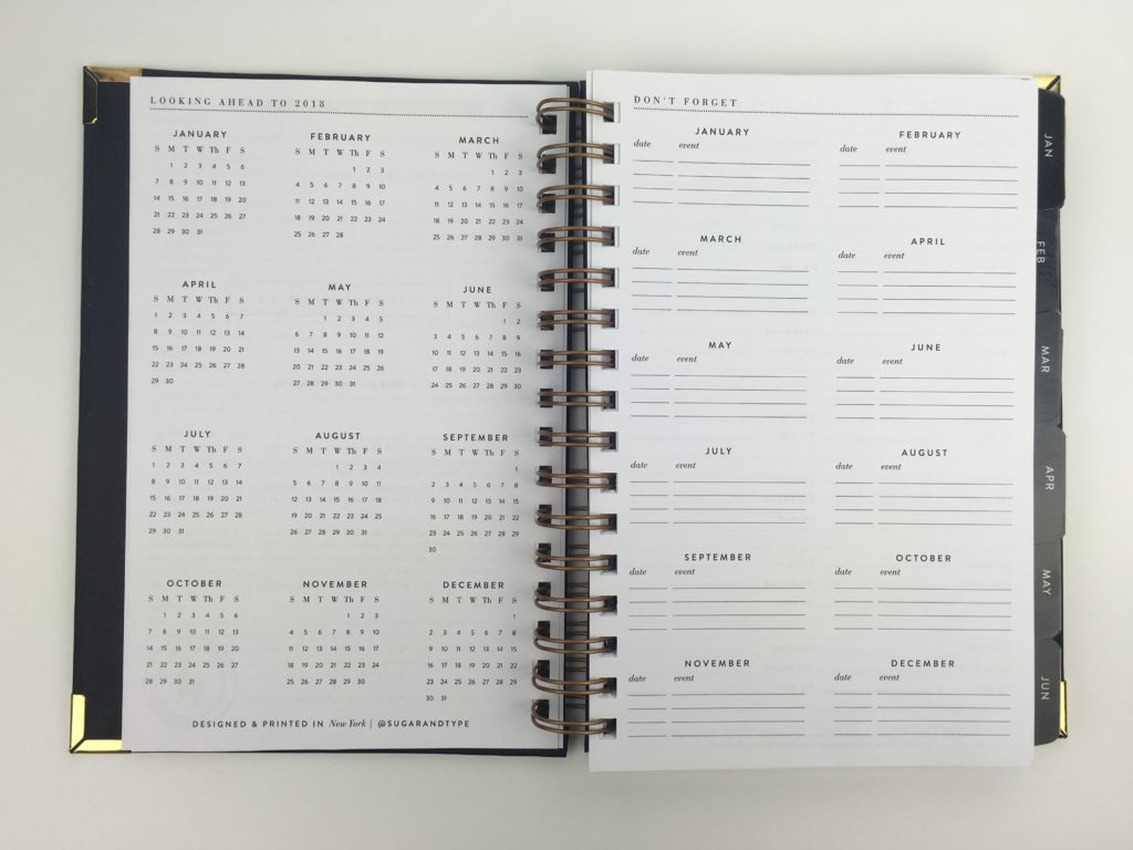 sugar and type planner review annual dates at a glance future log planning minimalist classy american planner cheap