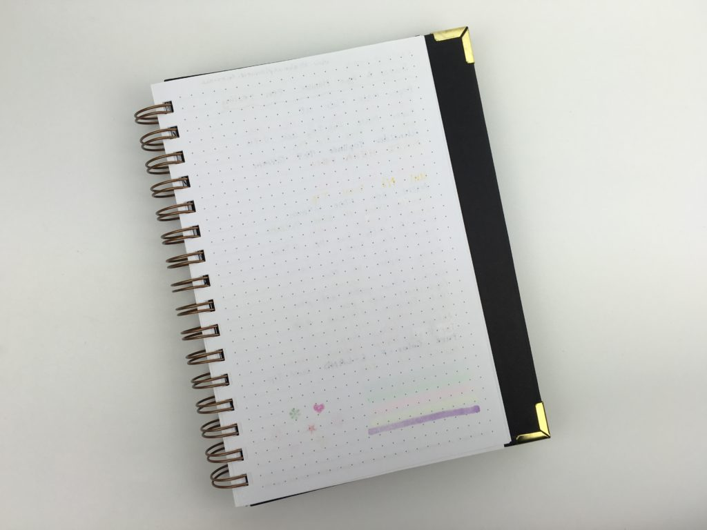sugar and type weekly planner pen testing review ballpoint inkhoy bleed through ghosting paper quality smooth to write on a5 size mambi stamp