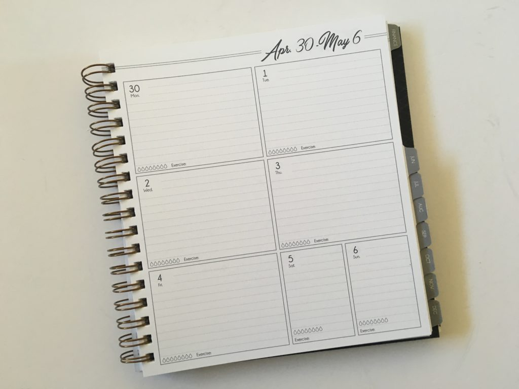 1 page weekly planner horizontal lined monday start life inspired plans made in american review video pros and cons