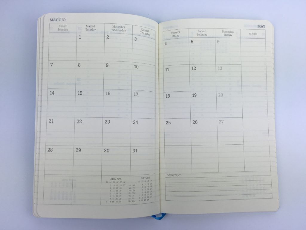 2 page monthly calendar sunday start bookbound italian made lediberg ivory collection monday start cheap simple lined