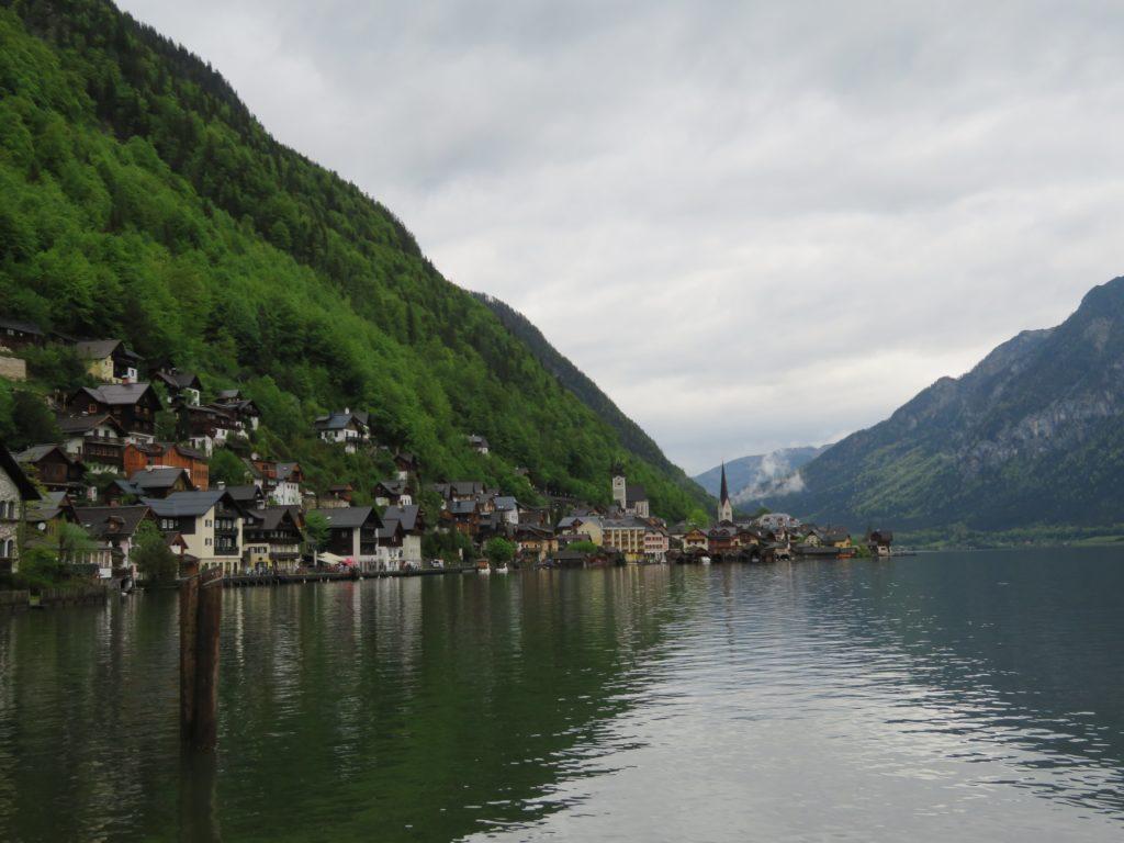 hallstat austria day trip viator tour review european alpine village lakeside cute quaint spring village