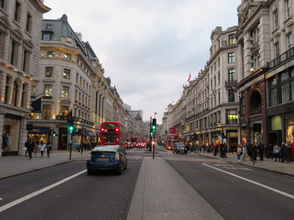 London Regent Street shopping things to see and do best time of year to visit Spring