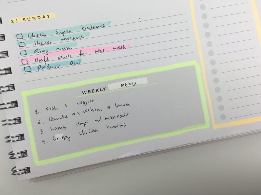 american crafts weekly planner horizontal highlighters plan with me ideas decoration daiso marker color coding quick hack fix white out cover up mistakes