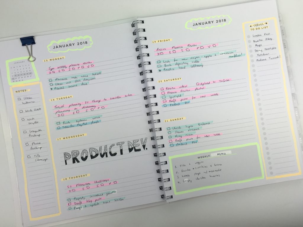 american crafts weekly planner horizontal monday start simple minimalist highlighters plan with me ideas decoration daiso marker color coding decorating bullet journal alternative
