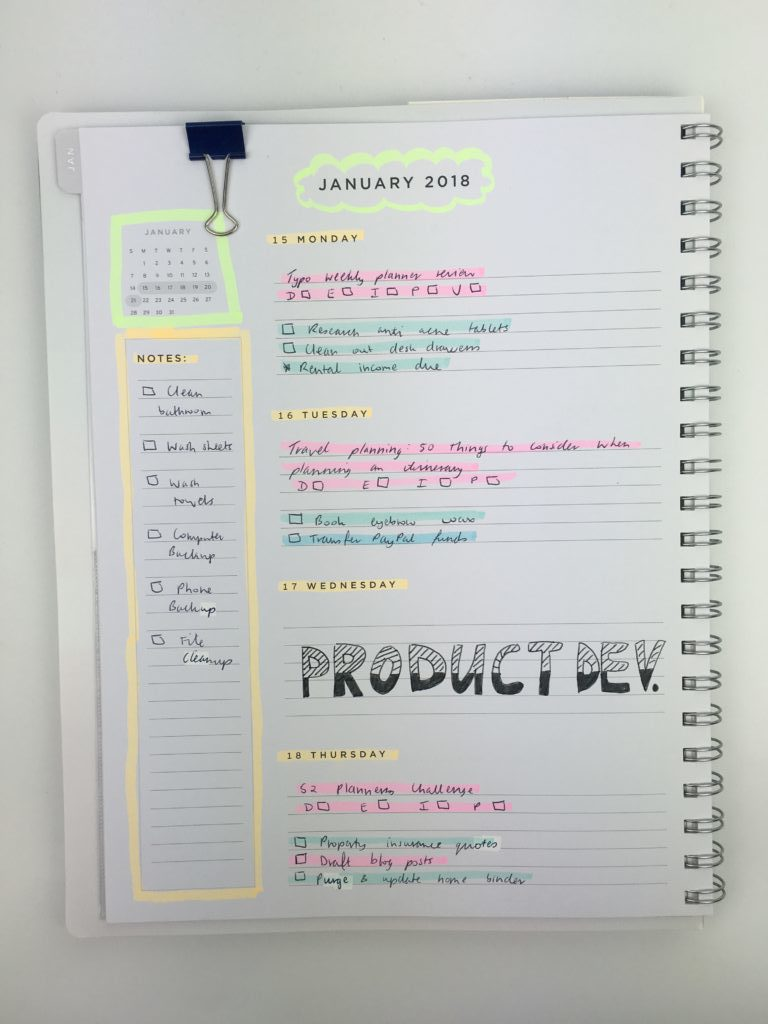 american crafts weekly planner horizontal monday start simple minimalist highlighters plan with me ideas decoration daiso marker color coding hand lettering