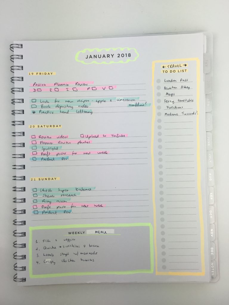 american crafts weekly planner horizontal simple minimalist highlighters plan with me ideas decoration daiso marker color coding