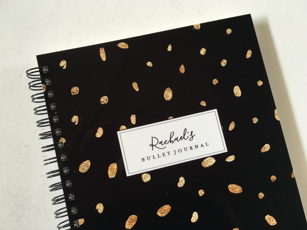 bullet journal notebook cute personalised wire binding grid dot paper australian made black and gold