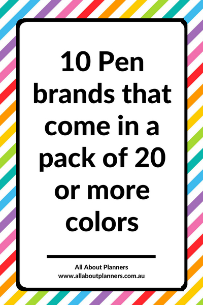 gel pens lots of color shades for color coding pens best pens for planning planner supplies no bleed ghosting show through