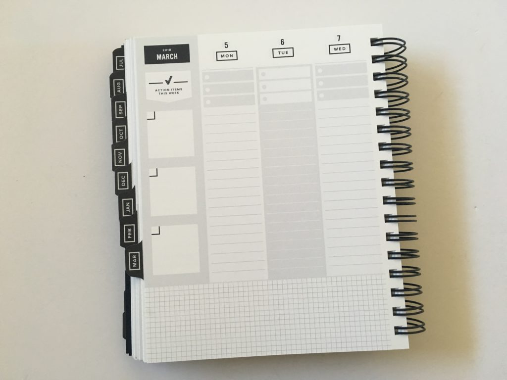 get to workbook planner review vertical weekly spread monday start minimalist gender neutral productivity goal setting academic university college