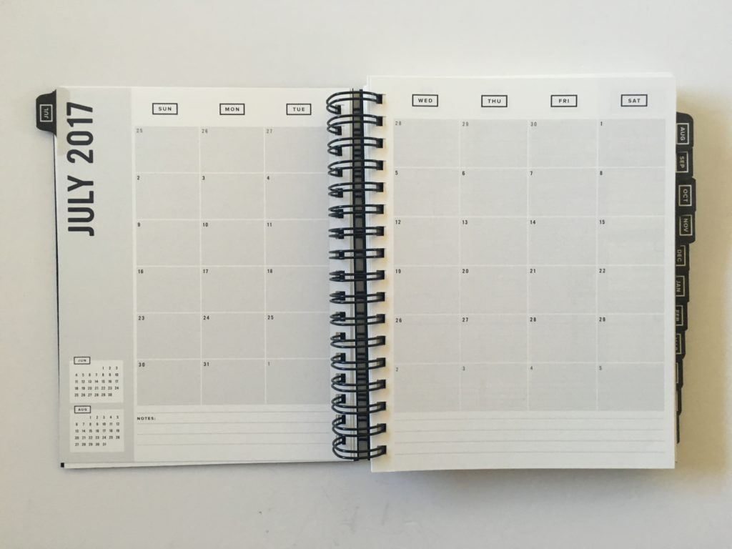 get to workbook planner review vertical weekly spread monday start minimalist gender neutral productivity goal setting academic university college monthly calendar 2 page spread