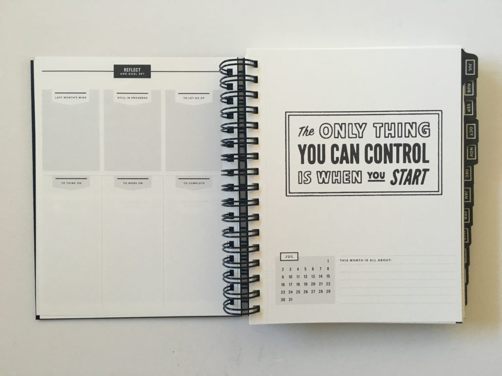 get to workbook planner review vertical weekly spread monday start minimalist gender neutral productivity goal setting academic university college quotes reflection