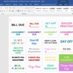 DIY Tutorial: How to make planner stickers using Microsoft Word (includes video walkthrough)