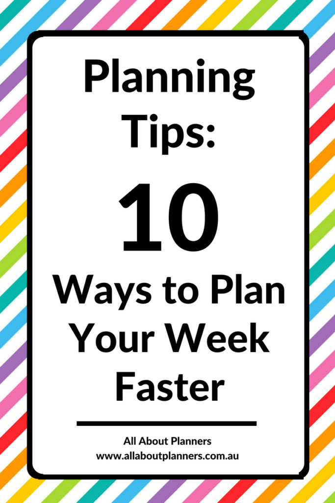 how to plan faster efficient weekly planning how to use your planner effectively daily weekly agenda diary organizer tips diy