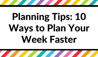 how to use a planner effectively weekly daily agenda organizer tips productivity time management fast efficient