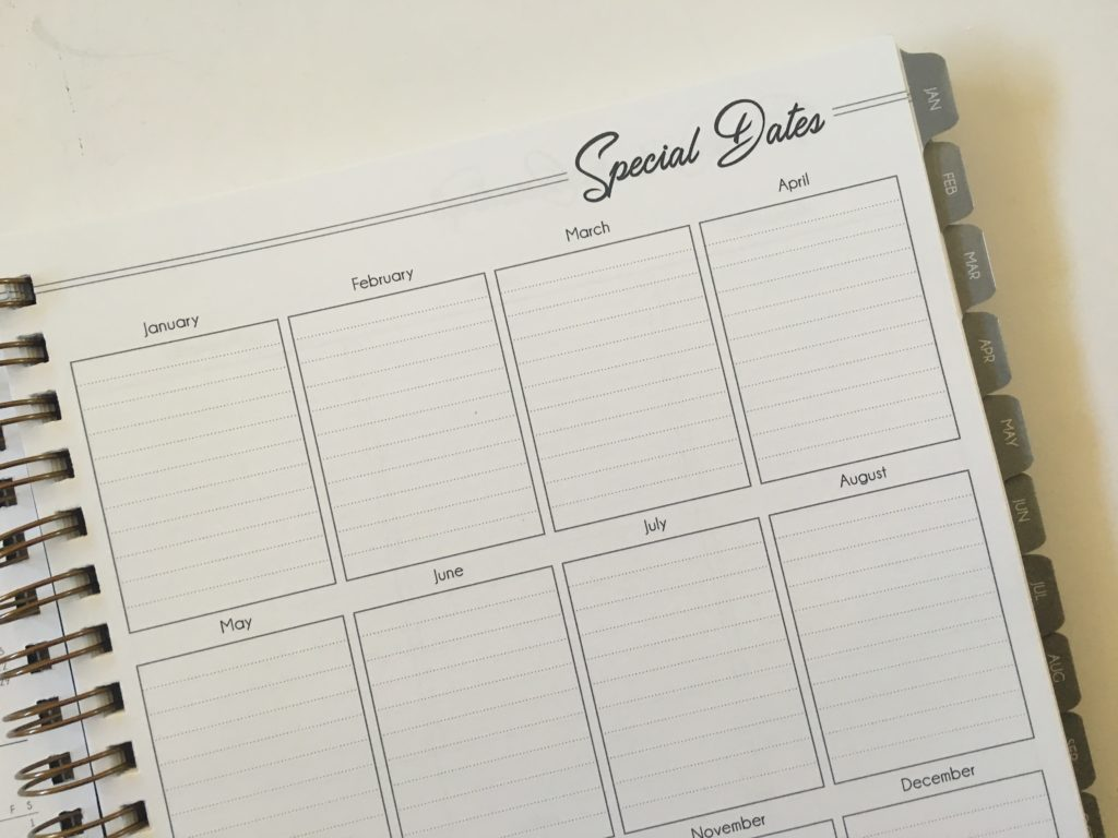 inspired life weekly planner special dates lined annual planning wire bound minimalist pros and cons 2 page horizontal checklist
