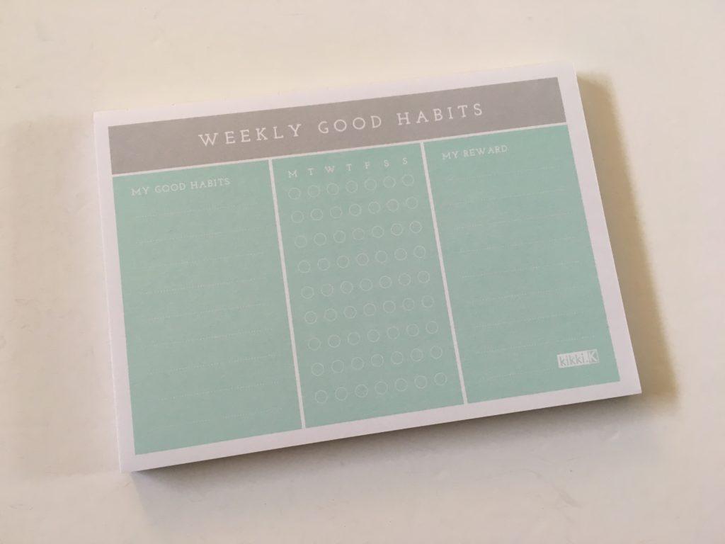 kikki k weekly habits notepad functional bullet journal accessory