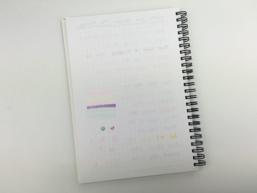 letter love designs bullet journal pen testing a5 grid dot notebook wire bound ghosting bleed through personalised australian made cute custom made