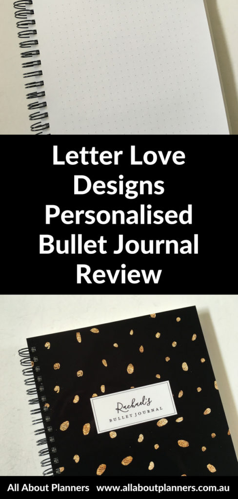 review of the bullet journal planner by letter love
