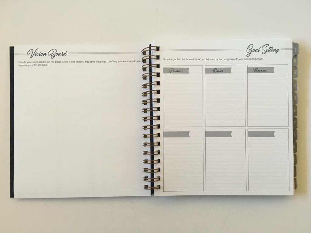 life inspired plans weekly planner review horizontal lined checklist notes monday start minimalist goal setting vision board wire binding