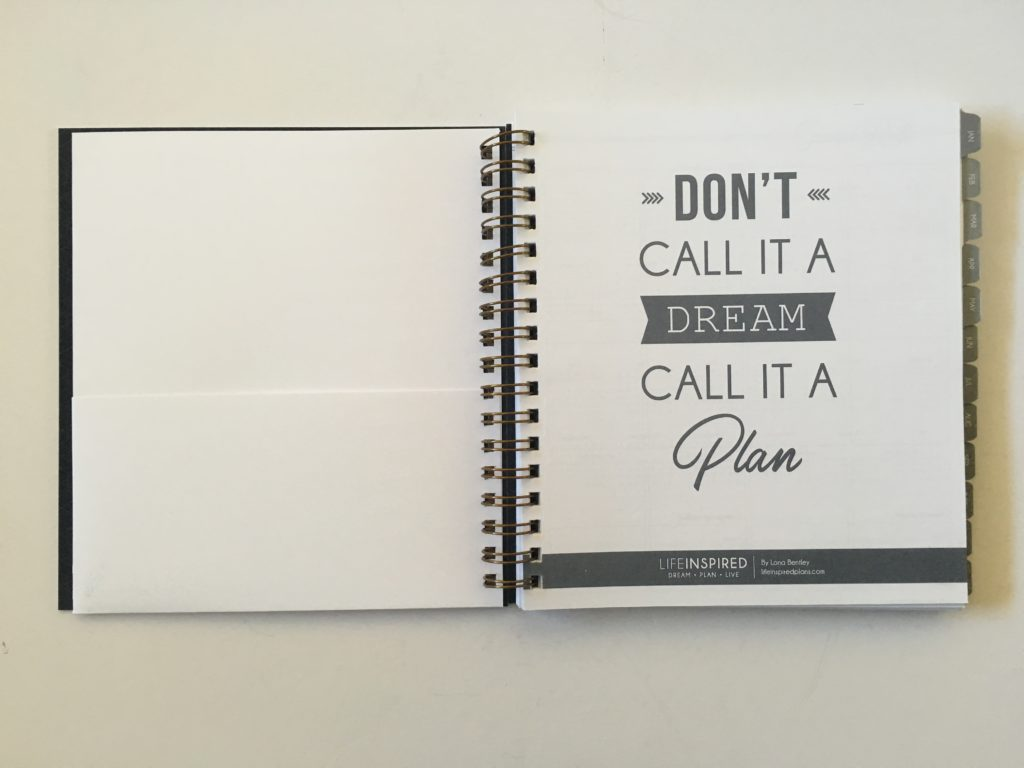 life inspired plans weekly planner review horizontal lined checklist notes monday start minimalist wire bound agenda diary pocket folder