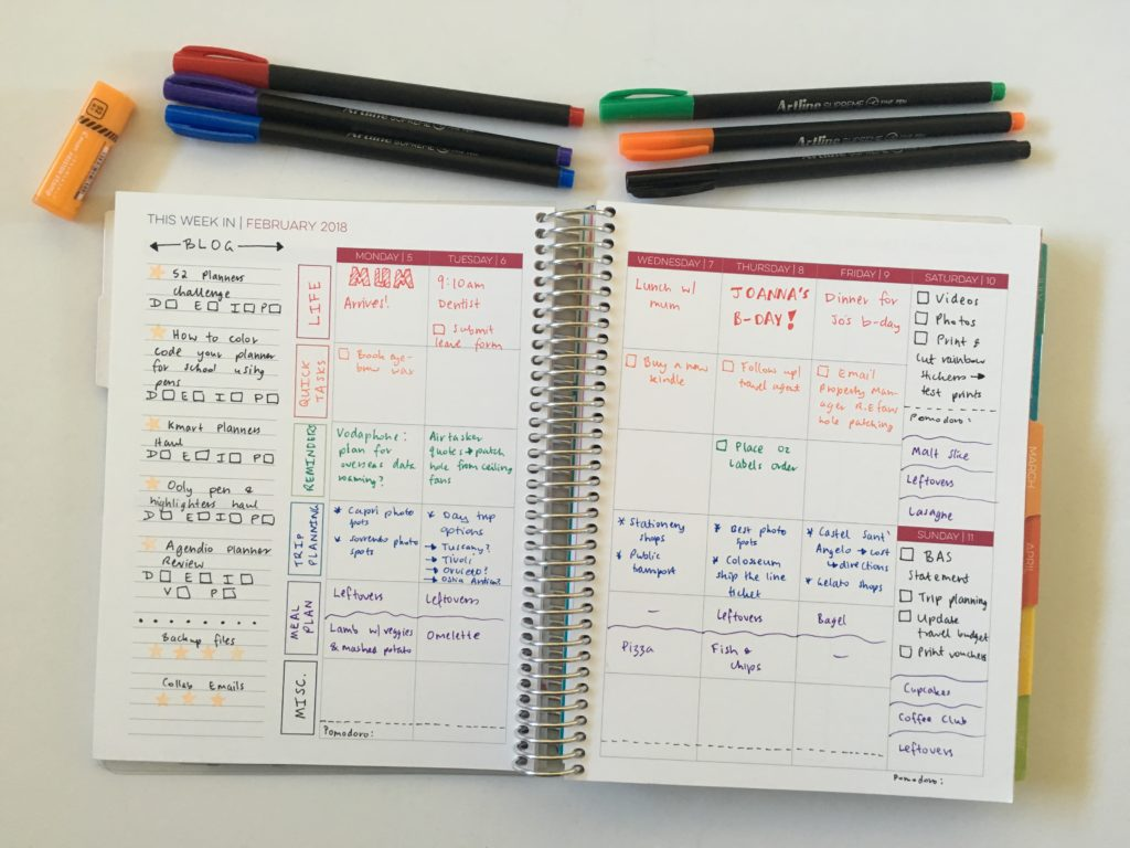 limelife planners layout c weekly spread inspiration ideas color coding life planner blog content editorial hack tips notebook review