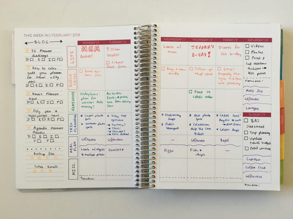 limelife planners layout c weekly spread inspiration ideas color coding life planner blog content editorial hack tips notebook review pros and cons