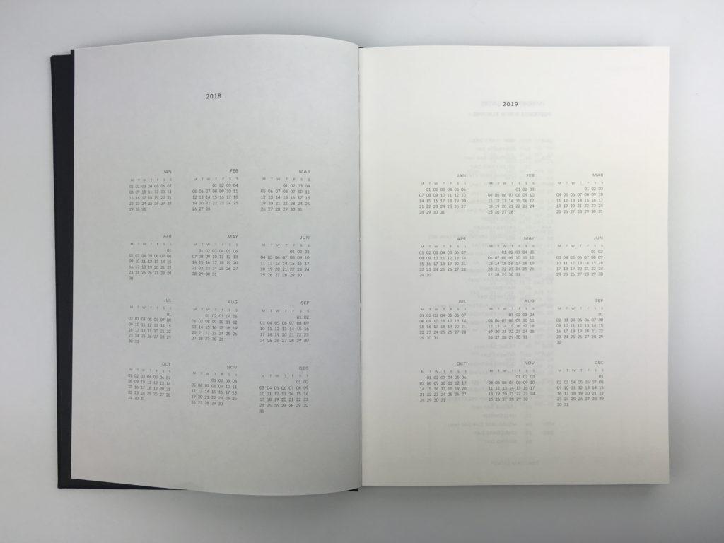 milligram weekly planner agenda annual dates at a glance calendar 2018 2019 minimalist hardbound
