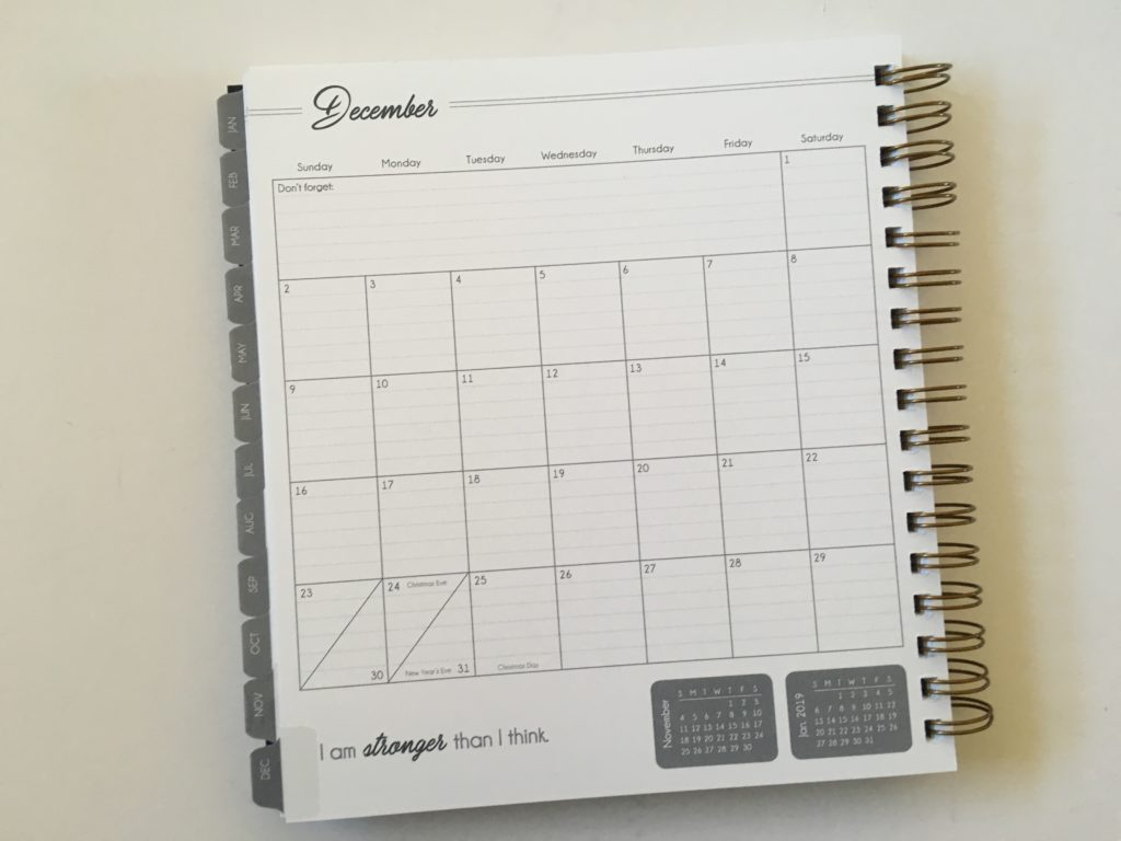 monthly calendar 1 page lined life inspired plans sunday start review video pros and cons