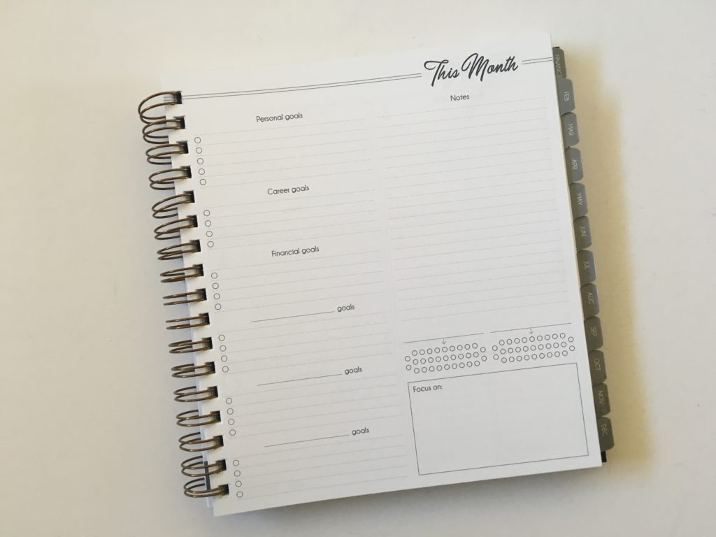 monthly planning goals habit tracker lined checklist functional life inspired planner review made in america wire binding