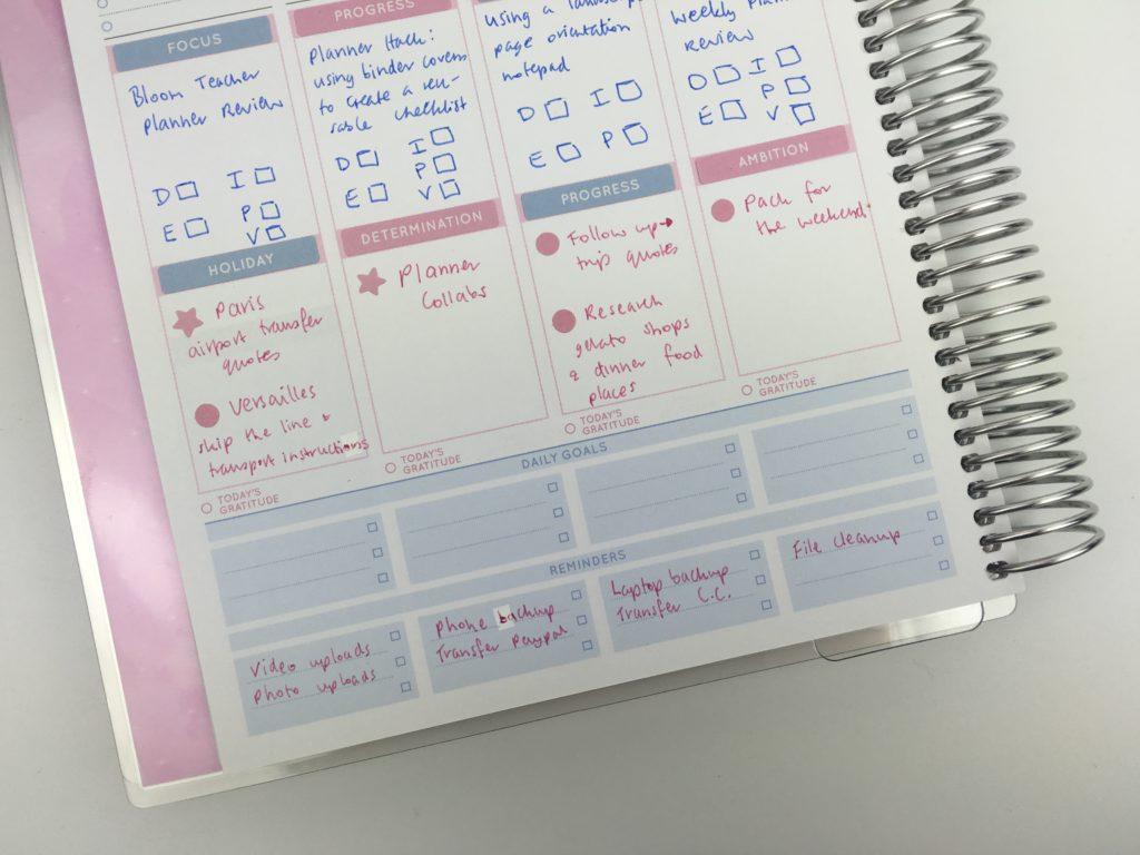 otto goals weekly planner review color coded planning spread blue pink sticker decorating ideas cheaper alternative to erin condren vertical life planner australia aussie