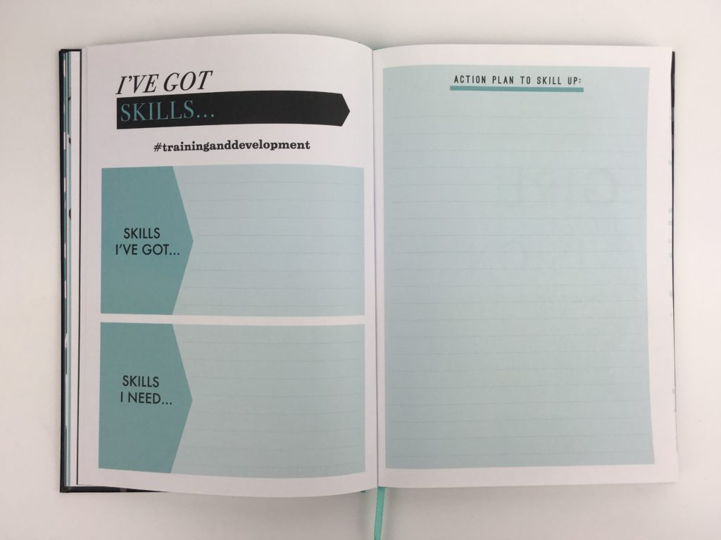 paperchase bossing it planner monthly goals planning weekly 1 page checklist hardbound productivity blogger entrepreneur pros and cons review business plan
