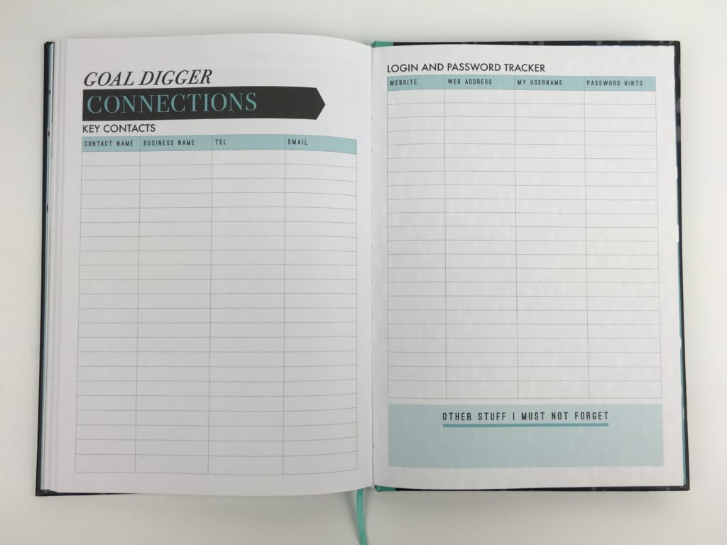 paperchase bossing it planner monthly goals planning weekly 1 page checklist hardbound productivity blogger entrepreneur pros and cons review goal digger