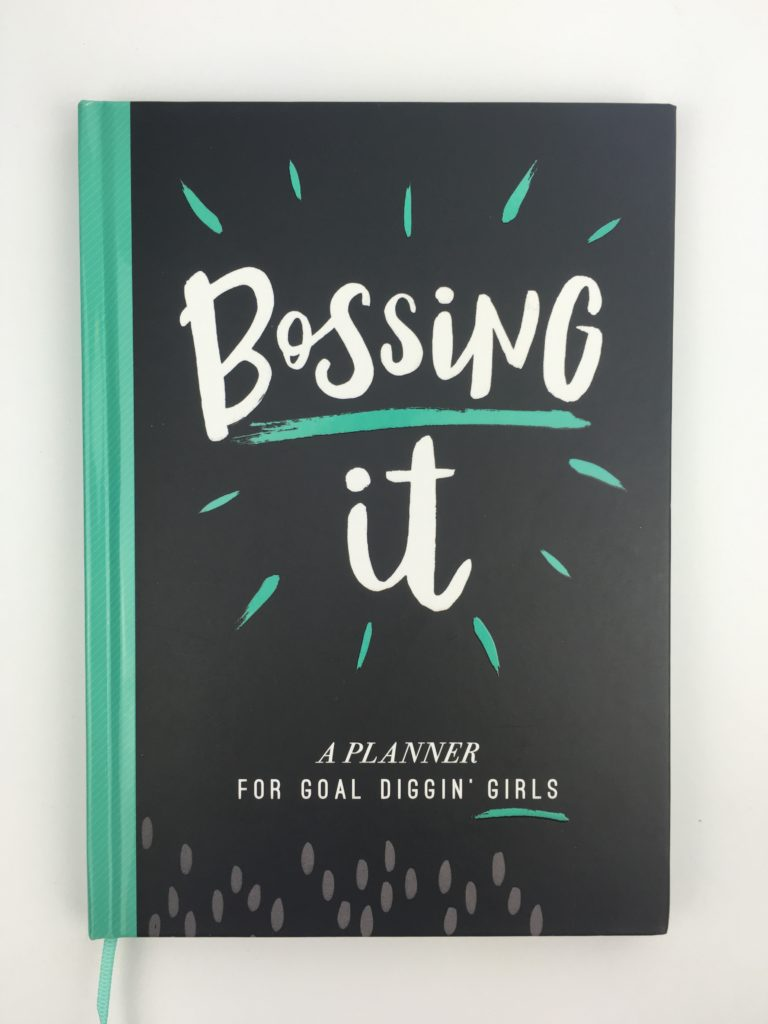 paperchase bossing it planner review undated 1 page per week minimalist goal setting girl boss notebook journal